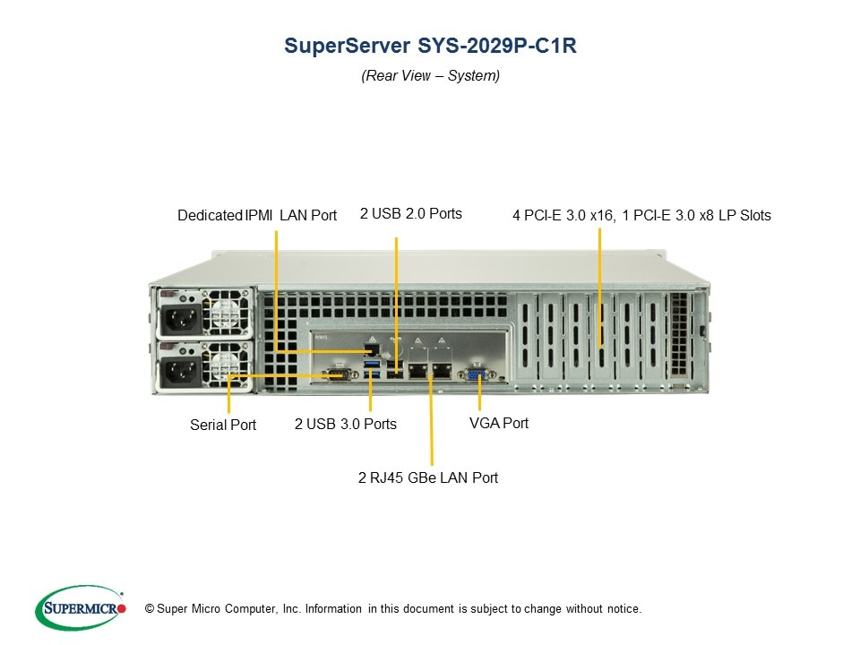 SuperServer-2029P-C1R third image